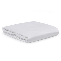Простыня из сатина белого цвета из египетского хлопка из коллекции Essential, 180х270 см Tkano TK20-SH0008