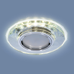 Встраиваемый точечный светильник со светодиодной подсветкой 2228 MR16 SL зеркальный/серебро Elektrostandard