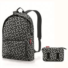 Рюкзак складной Mini maxi signature black Reisenthel AP7054