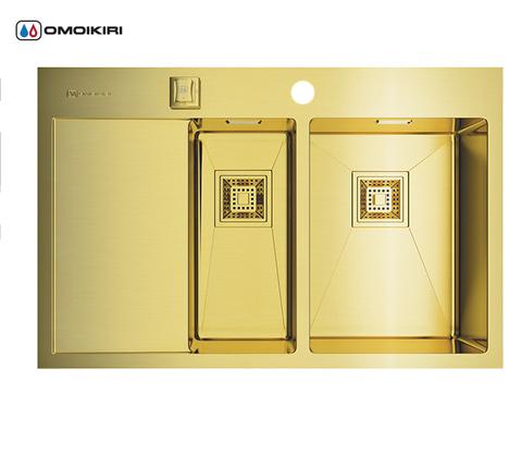 Кухонная мойка из нержавеющей стали OMOIKIRI Akisame 78-2-LG-R (4993088)