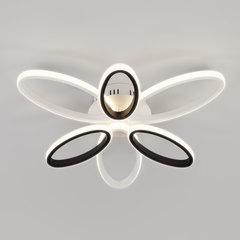 Светодиодный потолочный светильник с пультом управления Eurosvet Blade 90137/6 белый/чёрный