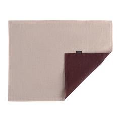 Двухсторонняя, льняная салфетка под приборы с декоративной обработкой. Цвет бордовый/пыльная роза Tkano TK18-PM0014