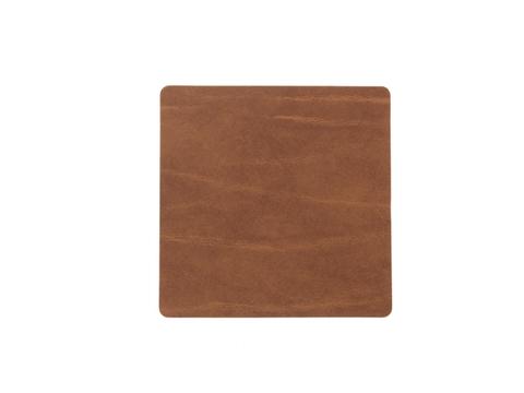 Подстаканник квадратный 10x10 см LindDNA Buffalo nature 98889