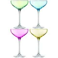 Бокал-креманка для шампанского Polka 4 шт. пастельный LSA G1148-08-294