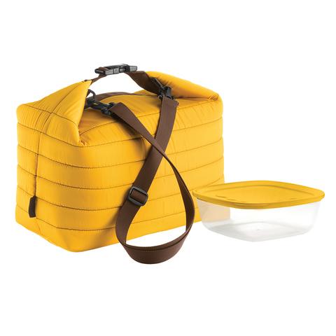 Набор термосумка+контейнер Guzzini Handy большой жёлтый 032903165