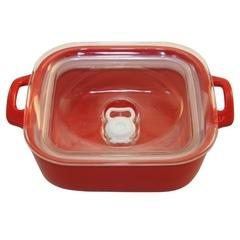 Форма герметичная квадратная 21,5 см Appolia Harmonie POPPY RED 223321503