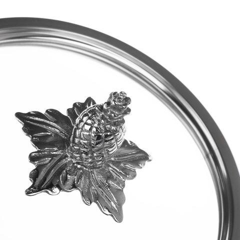 Кастрюля 24см (6.0л), стеклянная крышка с декорированной ручкой, RUFFONI Omegna Cupra арт. VCA2412X Ruffoni