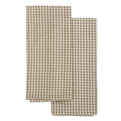 Набор вафельных кухонных полотенец бежевого цвета из умягченного хлопка Essential, 50х70 см Tkano TK19-TT0004