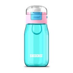 Бутылочка детская с крышкой 475 мл бирюзовая Zoku ZK202-TL