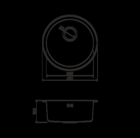 Кухонная мойка из нержавеющей стали OMOIKIRI Toya 45-АB (4993065)