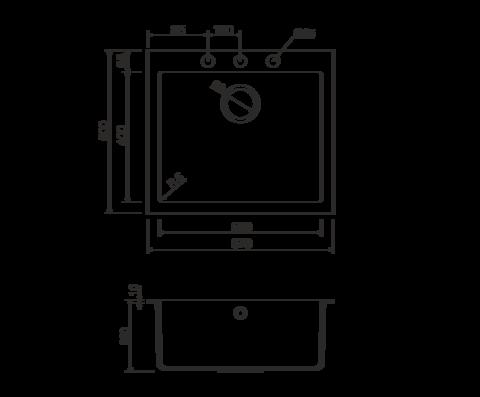 Кухонная мойка из искусственного гранита (Tetogranit) OMOIKIRI Bosen 57-PL (4993221)