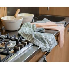 Набор вафельных кухонных полотенец серого цвета из умягченного хлопка из коллекции Essential, 50х70 Tkano TK19-TT0005