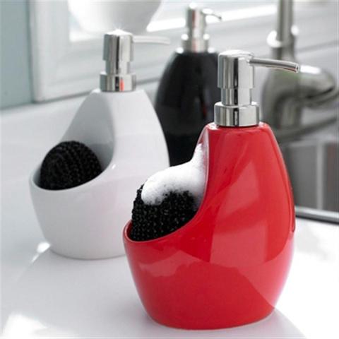 Диспенсер для мыла с подставкой для губки Umbra joey черный 330750-040