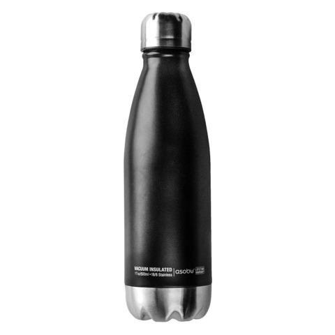 Термос-бутылка Asobu Central park (0,51 литра) черная/стальная