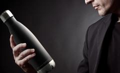 Термос-бутылка Asobu Central park (0,51 литра) черная/стальная SBV17 black-silver