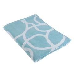 Жаккардовое полотенце 140х70 с авторским дизайном Gravity голубого цвета Tkano TK18-BT0034
