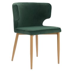 Кресло Berg Martin, велюр, зеленое BAAR-MABK36610