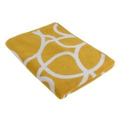 Жаккардовое полотенце 140х70 с авторским дизайном Gravity горчичного цвета Tkano TK18-BT0033