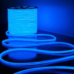 Светодиодный гибкий неон LS003 220V 9.6W 144Led 2835 IP67 круглый синий 6500К Elektrostandard