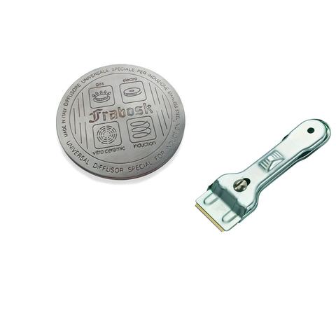 Комплект из диска для индукционной плиты 12см Frabosk и скребка для чистки плиты Westmark