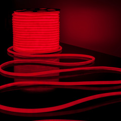 Светодиодный гибкий неон LS003 220V 9.6W 144Led 2835 IP67 круглый красный Elektrostandard