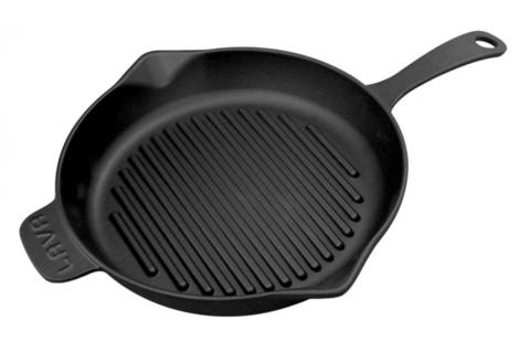 Литая чугунная сковорода-гриль LAVA ECO 28см LVECOYGT28
