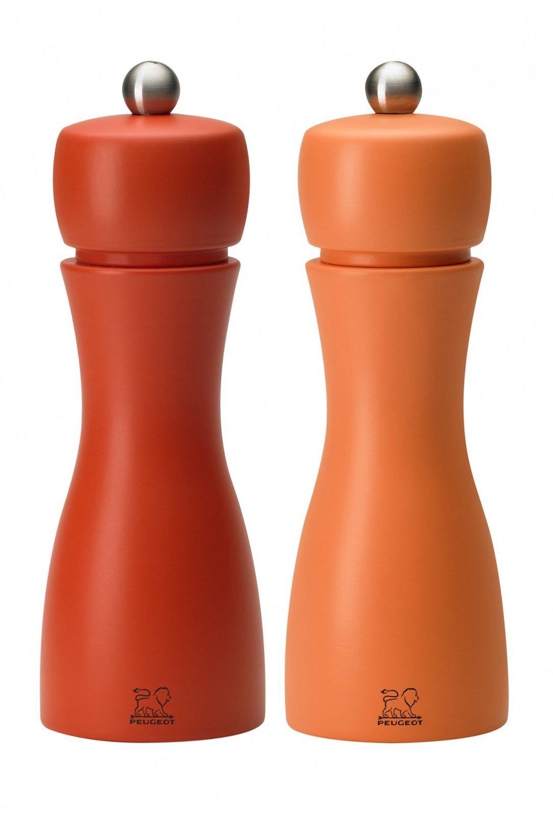 Набор мельниц Peugeot Tahiti для соли и перца, 15 см, коралловый+оранжевый 2/33286
