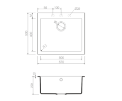 Кухонная мойка из искусственного гранита (Tetogranit) OMOIKIRI Bosen 57-SA (4993147)