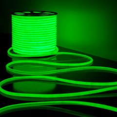 Светодиодный гибкий неон LS003 220V 9.6W 144Led 2835 IP67 круглый зеленый 6500К Elektrostandard
