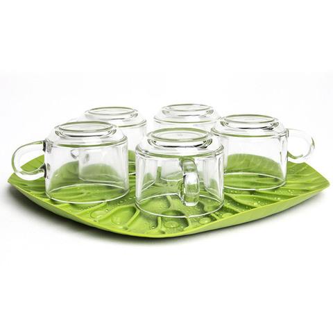 Сушилка-поднос lotus зеленая QL10166-GN
