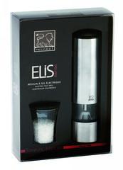 Мельница Peugeot Elis Sense для соли, 20 см, нержавеющая сталь матовая, на батарейках 27179