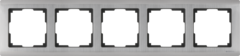 Рамка на 5 постов (глянцевый никель) WL02-Frame-05 Werkel