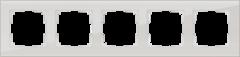 Рамка на 5 постов (дымчатый,стекло) WL01-Frame-05 Werkel