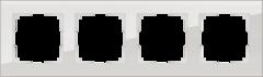 Рамка на 4 поста (дымчатый,стекло) WL01-Frame-04 Werkel
