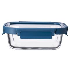 Контейнер для еды Smart Solutions стеклянный 640 мл темно-синий ID640RC_7708C