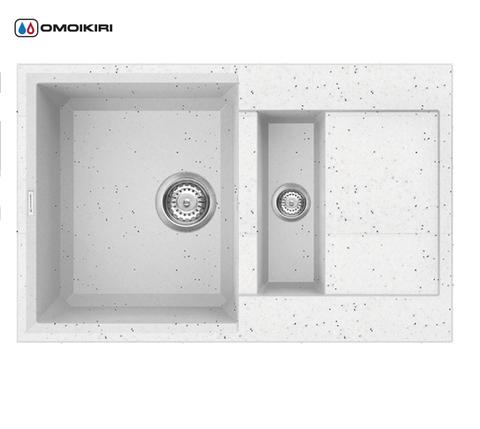 Кухонная мойка из искусственного гранита (Tetogranit) OMOIKIRI Sakaime 78-2-EV (4993200)