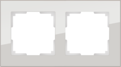 Рамка на 2 поста (дымчатый,стекло) WL01-Frame-02 Werkel