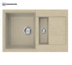 Кухонная мойка из искусственного гранита (Tetogranit) OMOIKIRI Sakaime 78-2-СH (4993237)