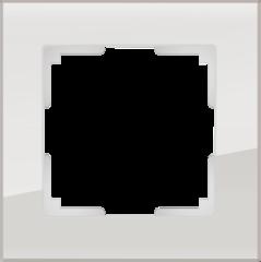 Рамка на 1 пост (дымчатый,стекло) WL01-Frame-01 Werkel