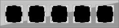 Рамка на 5 постов (серый,стекло) WL01-Frame-05 Werkel