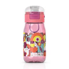 Бутылочка детская с крышкой 475 мл розовая Zoku ZK202-PK