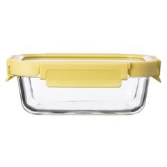Контейнер для еды Smart Solutions стеклянный 640 мл желтый ID640RC_127C