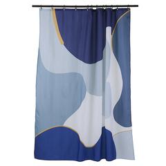 Штора для ванной синего цвета с авторским принтом из коллекции Freak Fruit, 180х200 см Tkano TK20-SC0003