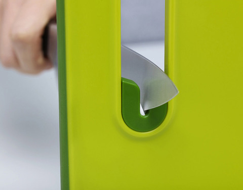Доска разделочная с ножеточкой Slice & Sharpen™ большая зеленая