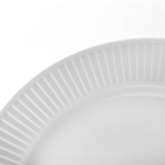 Тарелка обеденна 24 см. Plisse-Toulouse PILLIVUYT арт. 214224BL1