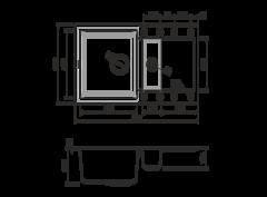 Кухонная мойка из искусственного гранита (Tetogranit) OMOIKIRI Sakaime 78-2-PL (4993199)