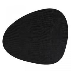 Подстановочная салфетка фигурная 37x44 см LindDNA Croco black 98286