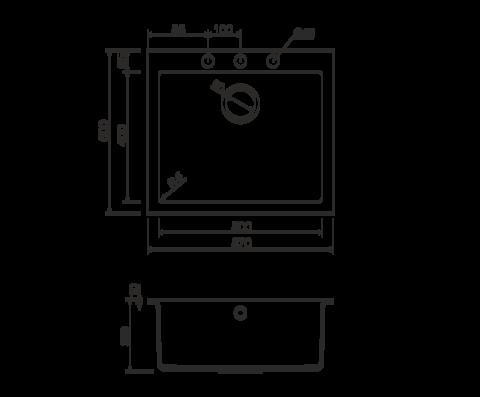 Кухонная мойка из искусственного гранита (Tetogranit) OMOIKIRI Bosen 57-СH (4993244)