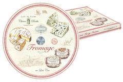 Блюдо стекл. д/сыра (вращающееся) FROMAGE в подарочной упаковке Easy Life AL-56933