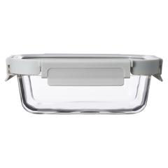 Контейнер для еды Smart Solutions стеклянный 370 мл светло-бежевый ID370RC_7534C